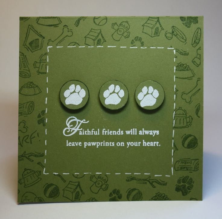 handmade sympathy cards ideas | Thimbles, Bobbins, Paper and Ink: Clean and Simple: Dog Sympathy Card