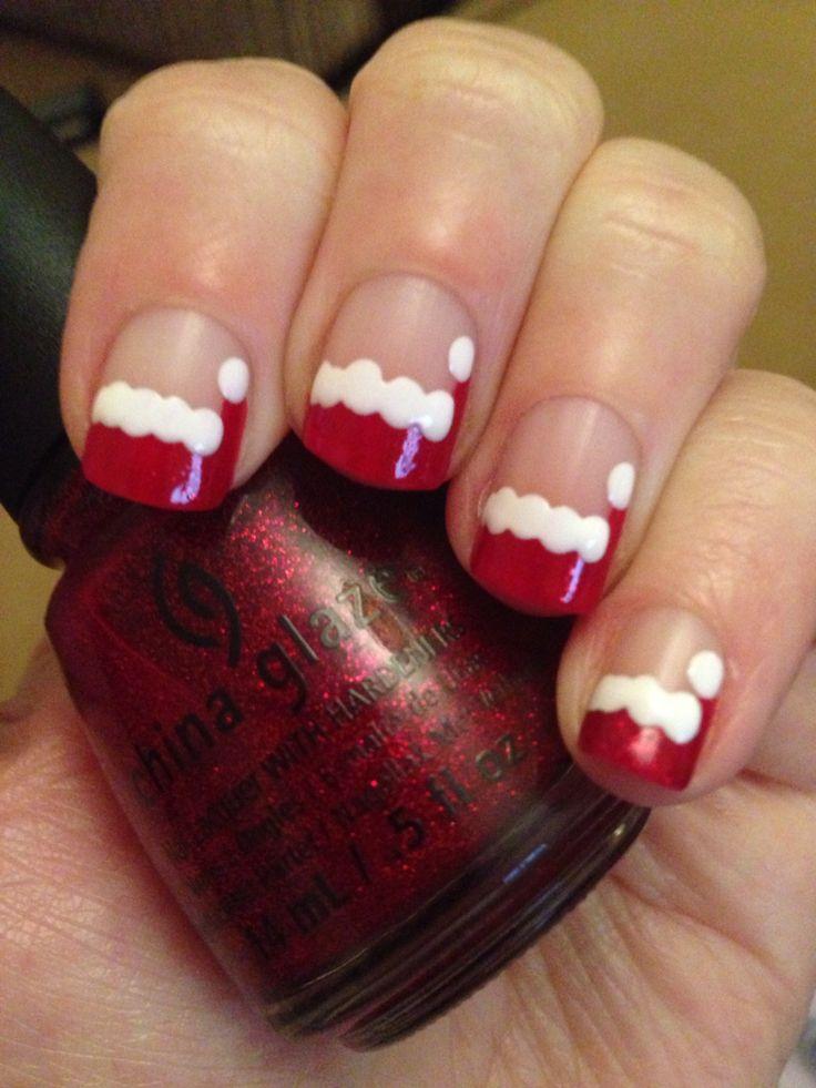 Santa hat nails - Best 20+ Santa Hat Nails Ideas On Pinterest Xmas Nails, Xmas