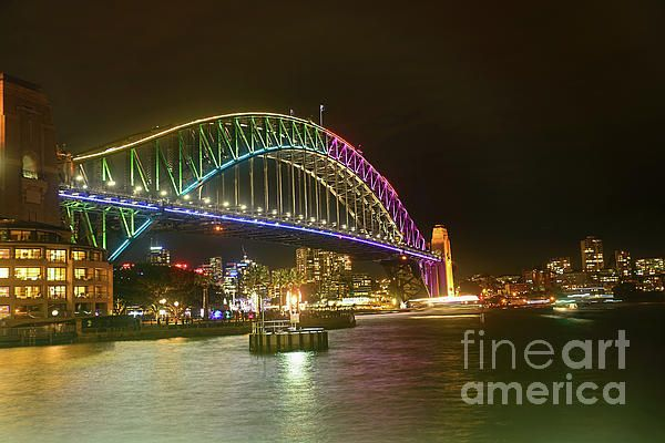 #LIGHT ON THE #HARBOR by #Kaye #Menner #Photography Quality Prints Cards Products at: http://kaye-menner.pixels.com/featured/light-on-the-harbor-vivid-sydney-by-kaye-menner-kaye-menner.html