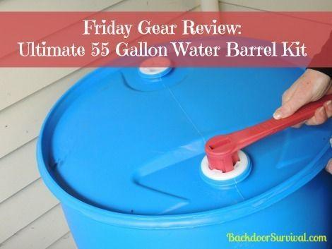 Gear Review & Giveaway: Ultimate 55 Gallon Water Barrel - Backdoor Survival