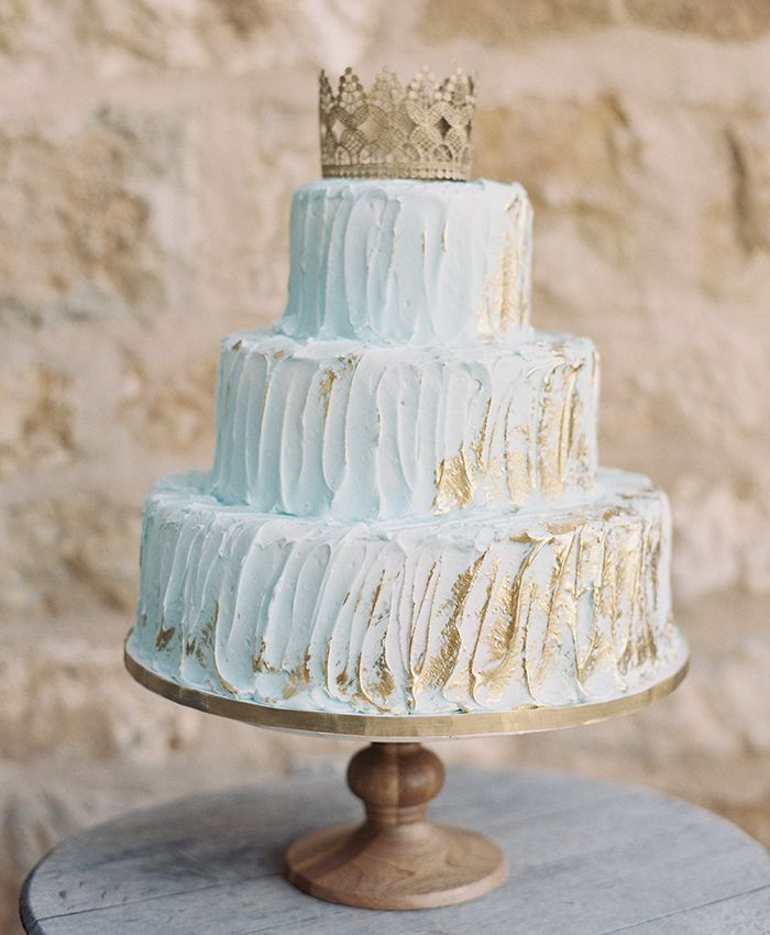 wedding cakes in lagunbeach ca%0A Mint Wedding Cake with Crown Topper