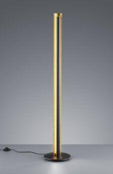 LED Stehleuchte TEXEL Schwarz/Gold TRIO LEUCHTEN