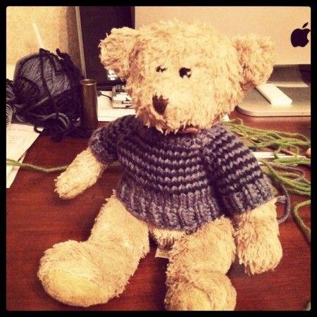 Patterns For Knit Fabrics : teddy bear sweater pattern Knit & Crochet Pinterest Teddy Bears, Be...