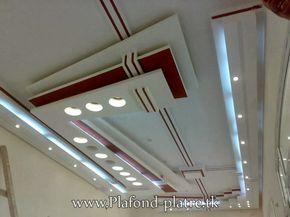 Faux plafond suspendu moderne 2013   Salon Marocain Moderne 2014