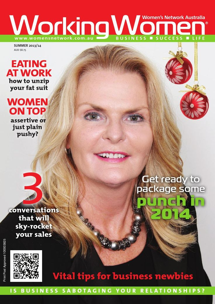 Front cover and article: Working Women Magazine