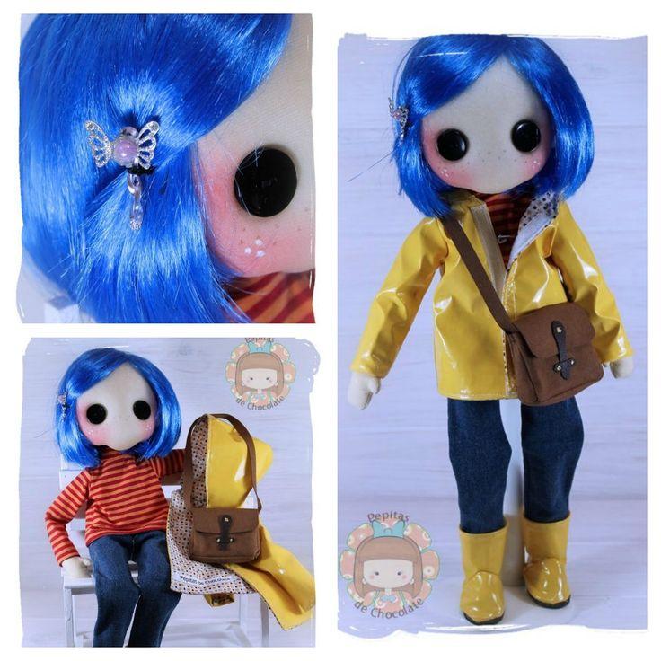 Muñeca Pepita Coraline de PepitasdeChocolate en Etsy
