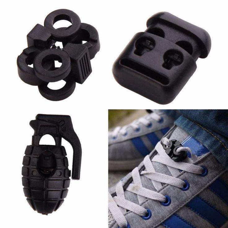 10ピース/ロットedcギア戦術屋外ハイキングブーツ靴紐締め付け非スリップバックル靴紐バックルクリップ