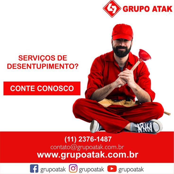 Serviços de desentupimento #Grupo,#GrupoAtak,#Desentupimento,#Pia,#Ralo,#Serviços