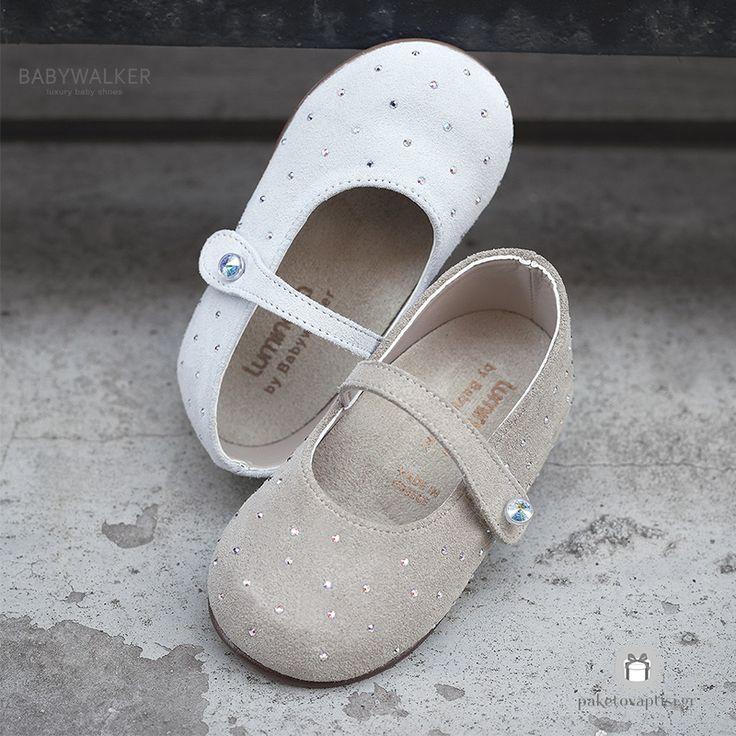 Καστόρινα Παπουτσάκια για Κορίτσια με Swarovski Babywalker LU6009