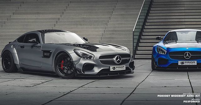 What's better than Prior-Design #Widebody Aero-Kit equipped Mercedes-Benz GT S?  2 of them! :) - PD800GT Widebody Aero-Kit - PD3Forged Prior-Design Wheels  #priordesign #pd800gt #breitbau #bodykit #umbau #mercedesgts #mercedes #benz #pd3forged #priordesignwheels #custom #tuning #exclusiveaerodynamics #jscarshoot #wideornothing
