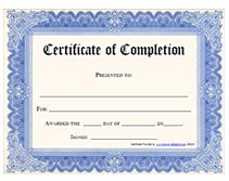 free printable certificate of completion award