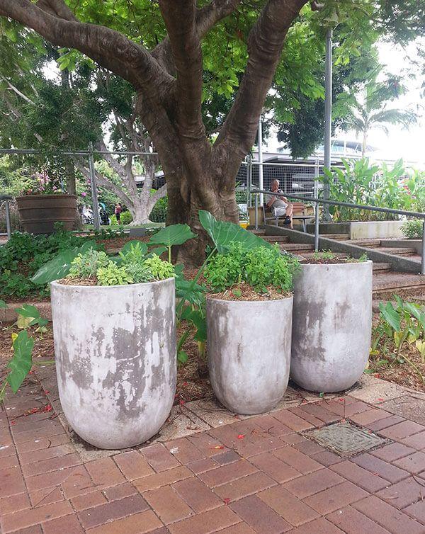 Venice Lightweight Concrete Tall Round Concrete Planters Planter Design Planters