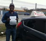Congratulations to Clifford Soyinka of Chatham Kent, who passed his practical driving test Wednesday 26th February  Clifford passed his driving test at the Gillingham driving test centre.  Now the Journey to work and back will be so much easier.  All the best for the future from your driving instructor Calvin and all the team at Topclass Driving School.  Driving Lessons Chatham