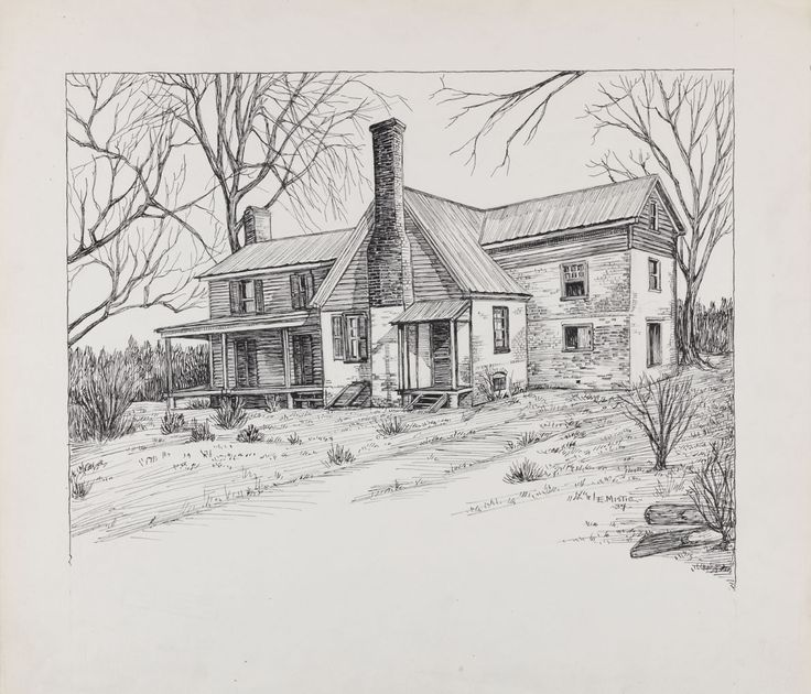 Beautiful Nature Pencil Drawings: Pencil Drawings Of Old Houses