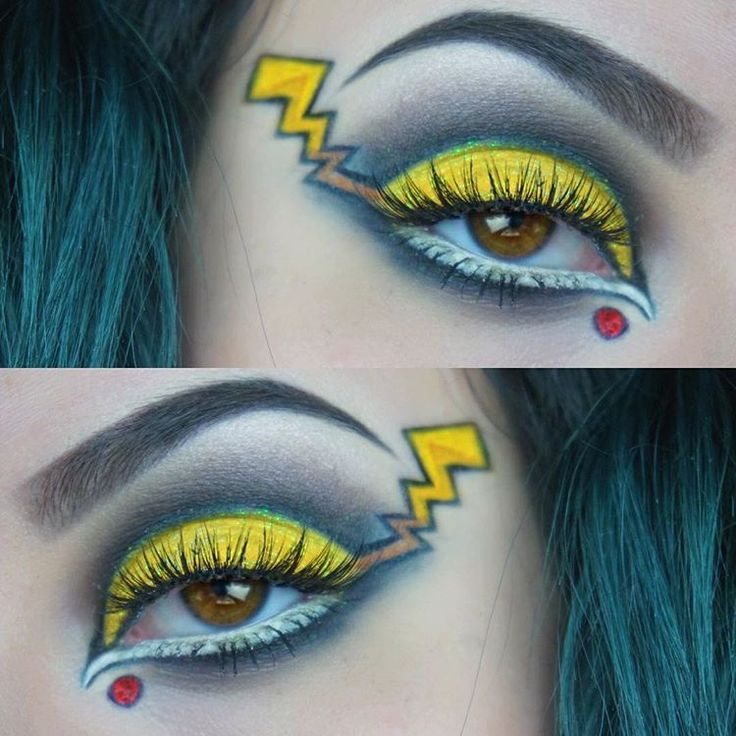 In honor of Pokemon Go and @t_robinson7's birthday, I created a Pikachu inspired eye! Products used: • Make Up For Ever Flash Palette • craft store yellow glitter • Star Crushed Minerals glitter in Redrum • Morphe 35B palette • Jeffree Star Velour Liquid Lipstick in Drug Lord • Kat Von D Everlasting Liquid Lipstick in Outlaw • Kat Von D Tattoo Liner in Trooper • Violet Voss lashes in Vamptress #makeup #makeupartist #mua #makeupartistsworldwide #makeupoftheday #jeffreestarcosmetics…