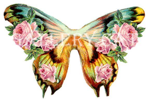 FAIRY vleugels digitale Collage blad downloaden en afdrukken