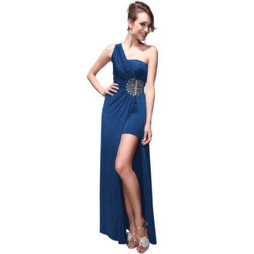 Ever Pretty Split Rhinestones One Shoulder NWT Long Prom Gown 09542 - List price: $119.99 Price: $39.99 Saving: $80.00 (67%) + Free Shipping