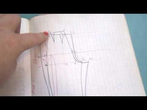 ВЫКРОЙКА БРЮК. 2 часть. мой метод. - YouTube