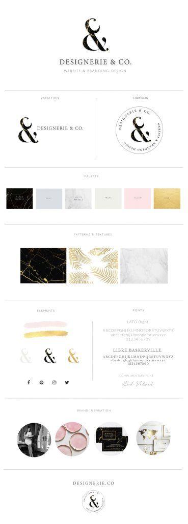 Brand and Website Design Designerie & Co