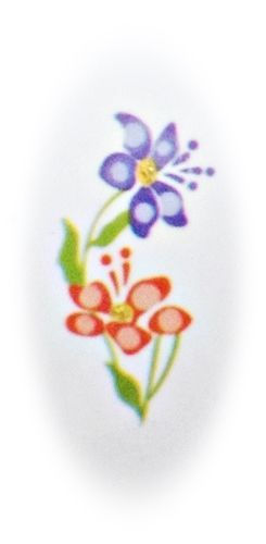 Nailstickers, Nagelsticker YB 025, Sticker, Blumen, water transfer, lange Nägel