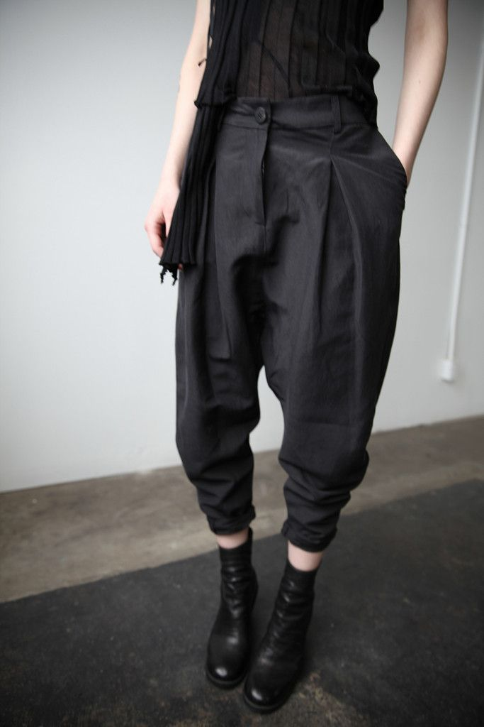 Pleated Trousers | cendre