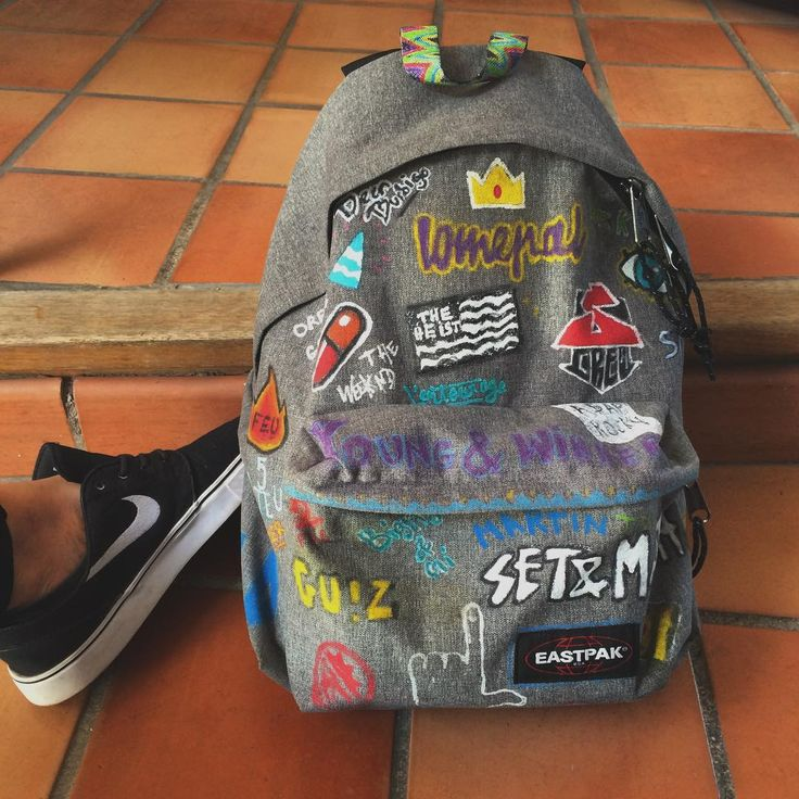 Customised Eastpak by sarah.eddi. on Instagram