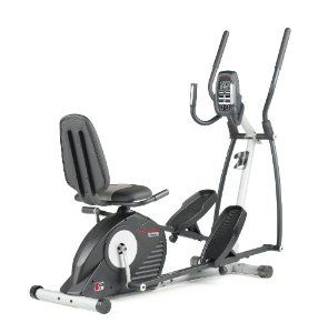 Get 2 trainers in one with the ProForm Hybrid Trainer. You can use it as an elliptical trainer or sit down exercise bike. Plus get upper body workouts with the upper-body arms.