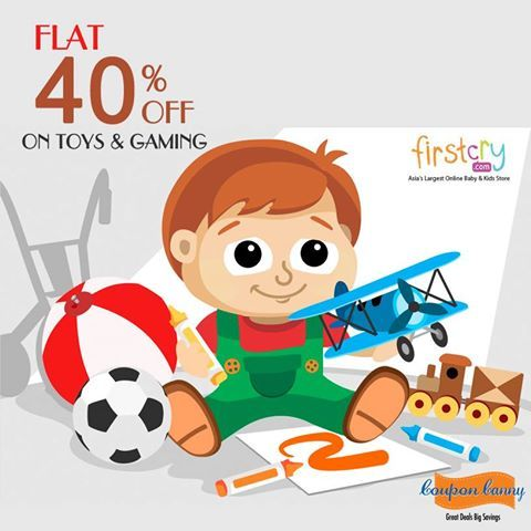 lat 40% OFF on #Toys & #Gaming at #FirstCry! Claim Now : http://www.couponcanny.in/firstcry-coupons/