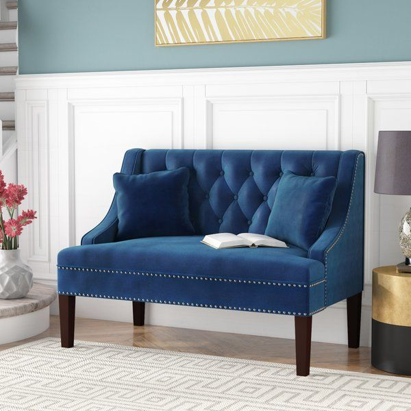 Beaulah Upholstered Bench In 2019 Farmhouse Chic Upholstered Bench Banquette