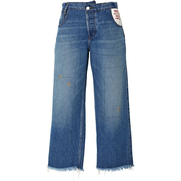 Monse Pattern Book Tunic | Moda Operandi (5815360 PYG) ❤ liked on Polyvore featuring tops, tunics, monse, pants, patch pocket jeans, blue jeans, patch jeans, leather patch jeans and leather jeans