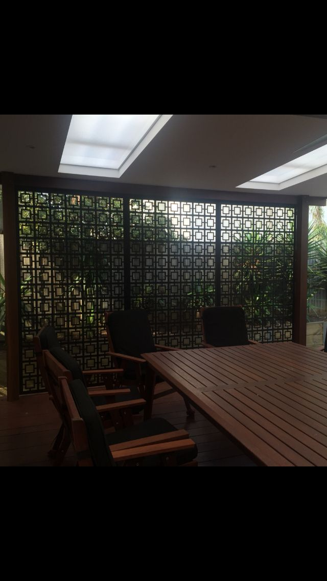 Square pattern screens powder coated in black