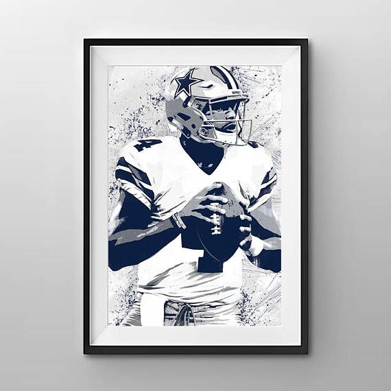 Dallas Cowboys Print Dallas Cowboys Art Dallas Cowboys