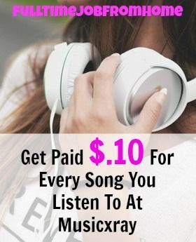 Learn How You Can Get Paid $.10 Per Song That You Listen To At Musicxray. Get Paid via PayPal once you earn $20, just for listening to music you like!
