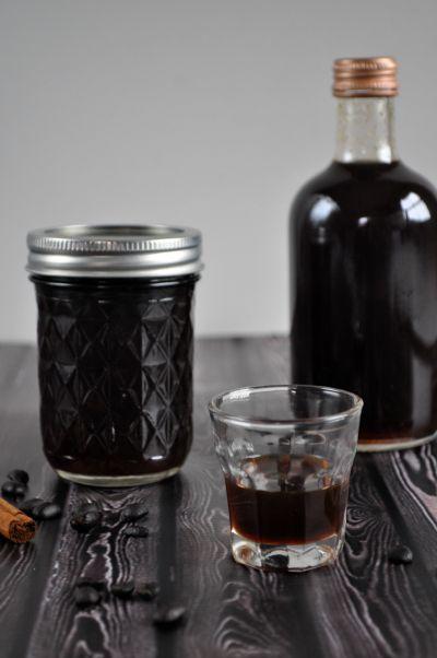homemade spiced coffee liqueur