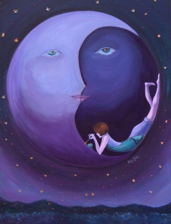 Purple moon by janie