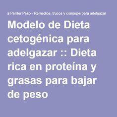 Modelo de Dieta cetogénica para adelgazar :: Dieta rica en proteína y grasas…