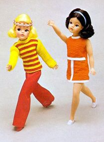 Vintage Sindy dolls.