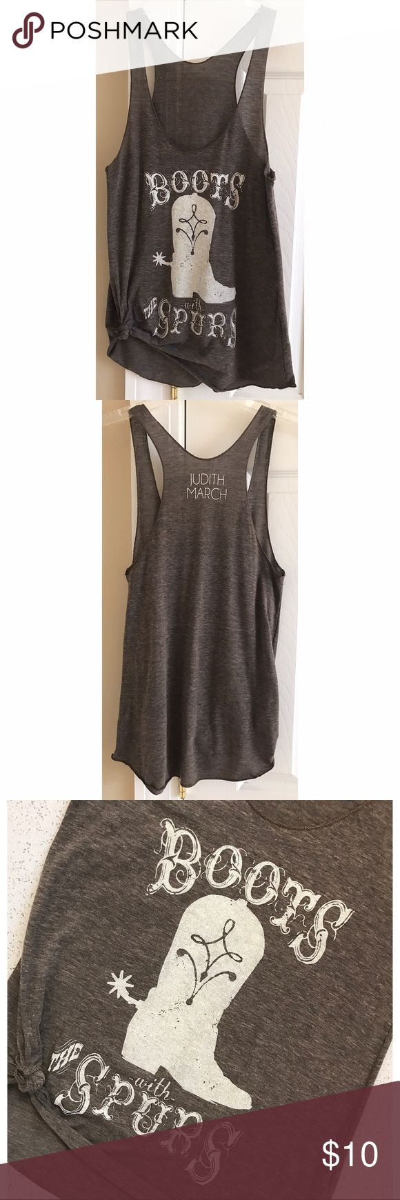 Judith March Tank Top Judith March graphic tank top. Never worn. Judith March Tops Tank Tops