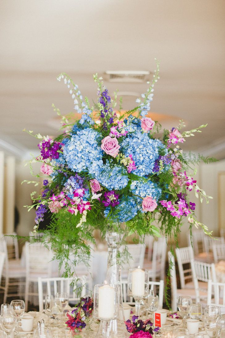 Hydrangea centerpieces pinterest themed