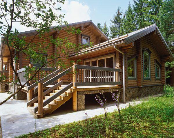 Проект дома из оцилиндрованного бревна | Архитектурные проекты | Журнал «Красивые дома»