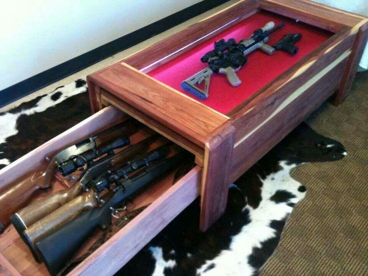 Gun safe in coffee table - 68 Best Gun Cabinet Images On Pinterest