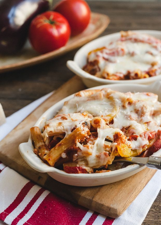 Baked Ziti with Roasted Eggplant and Peppers | www.kitchenconfidante ...