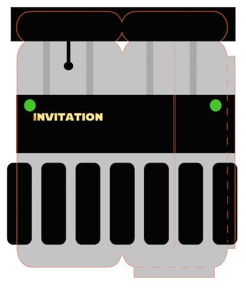les 25 meilleures id es de la cat gorie invitations star. Black Bedroom Furniture Sets. Home Design Ideas