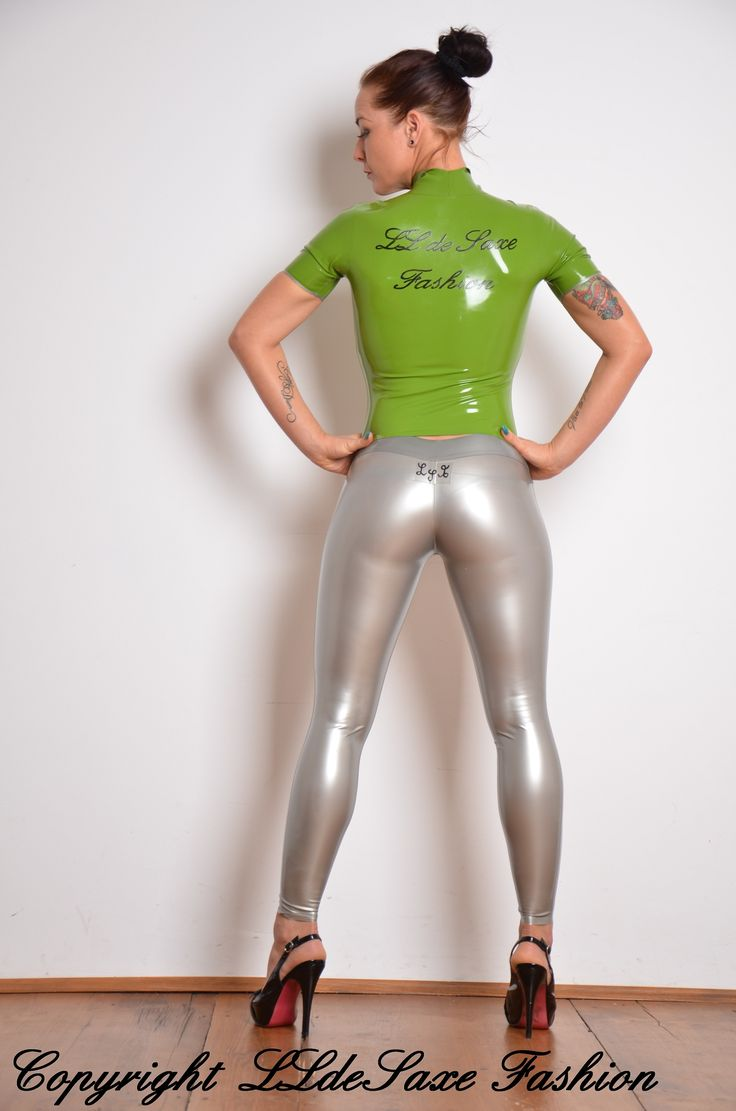 Clothes women wearing shiny tight