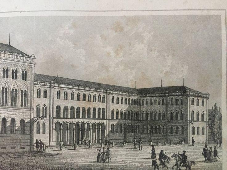 Annons på Tradera: Munchen Tyskland Antik Etsning Topografisk Plansch 1840 Das kleine Universum