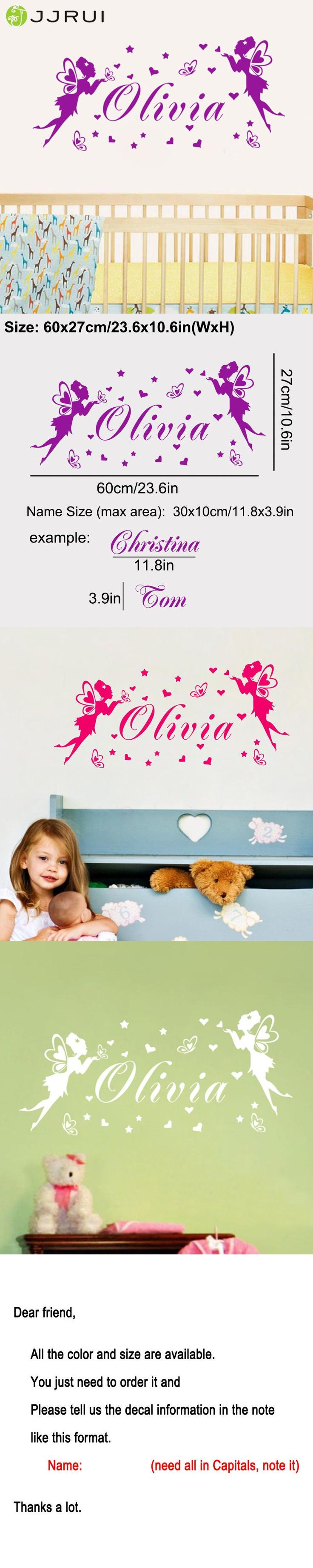 Best 25 personalised wall stickers ideas on pinterest wall jjrui personalised fairies butterflies any name vinyl wall sticker art decal girls home decor wall stickers amipublicfo Choice Image
