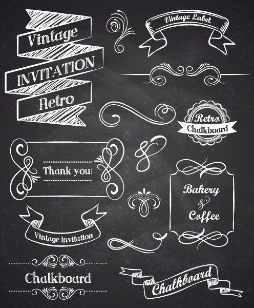 Hand drawn vintage elements | Lettering Shop