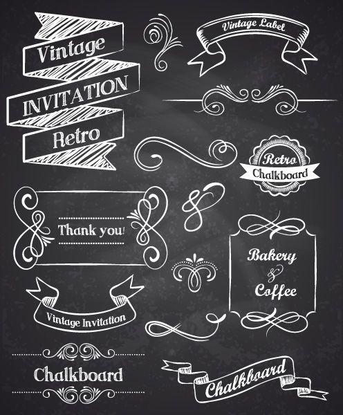 Hand drawn vintage elements   Lettering Shop