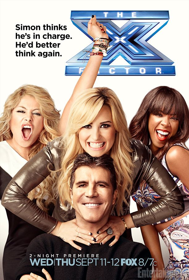 'X Factor' season 3 poster: Simon Cowell and Demi Lovato at each other's throats again -- EXCLUSIVE