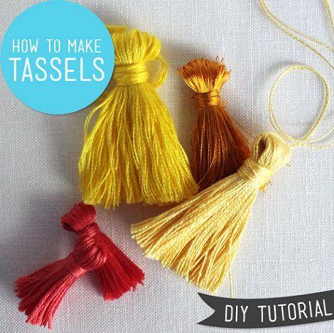 Tutorial para hacer borlas con lana o hilos de colores